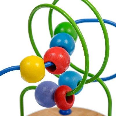 Žaislas labirintas su karoliukais